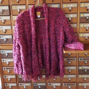 Beautiful pink and purple cardigan